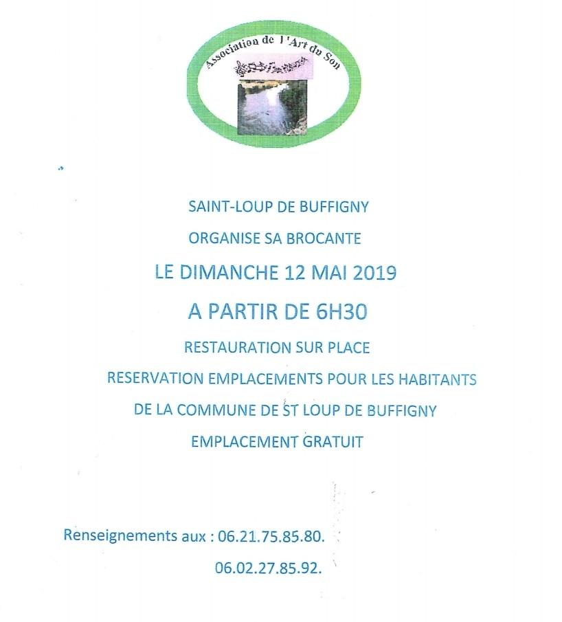 Dimanche 12 mai 2019 Brocante Saint Loup De Buffigny
